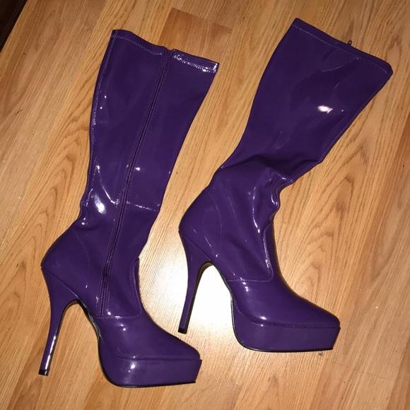 Never Worn Purple Costume Boots | Poshmark